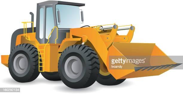 tractor shovel - scoop shape stock illustrations, clip art, cartoons, & icons