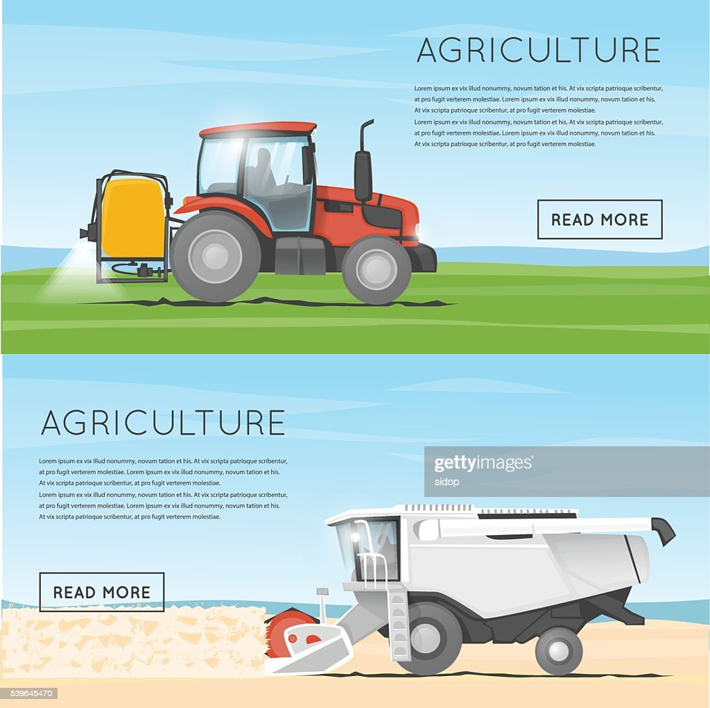 Tractor watering field. Agriculture. Agricultural vehicles. Harvesting, agriculture.