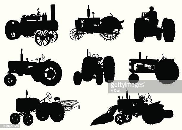 Tractors Vector Silhouette