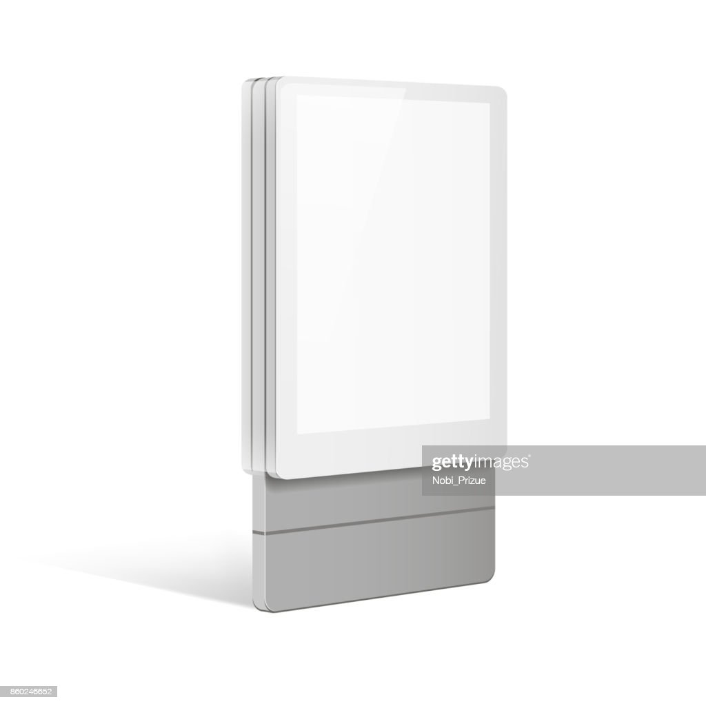 Trade exhibition stand display. Illustration isolated on white background