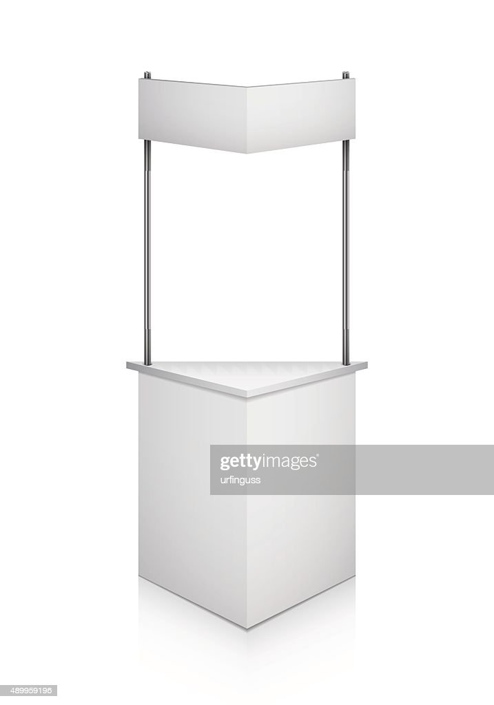 Trade exhibition stand vector isolated