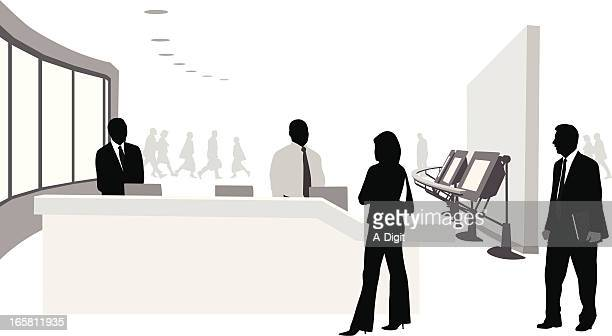 Trade Show Booth Vector Silhouette