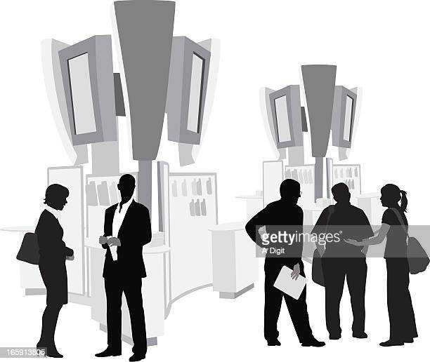 Trade Show Sales Vector Silhouette