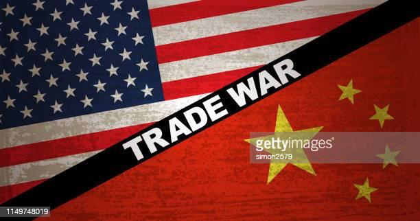 trade war : usa vs china - trade war stock illustrations