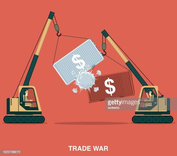 trade war - trade war stock illustrations