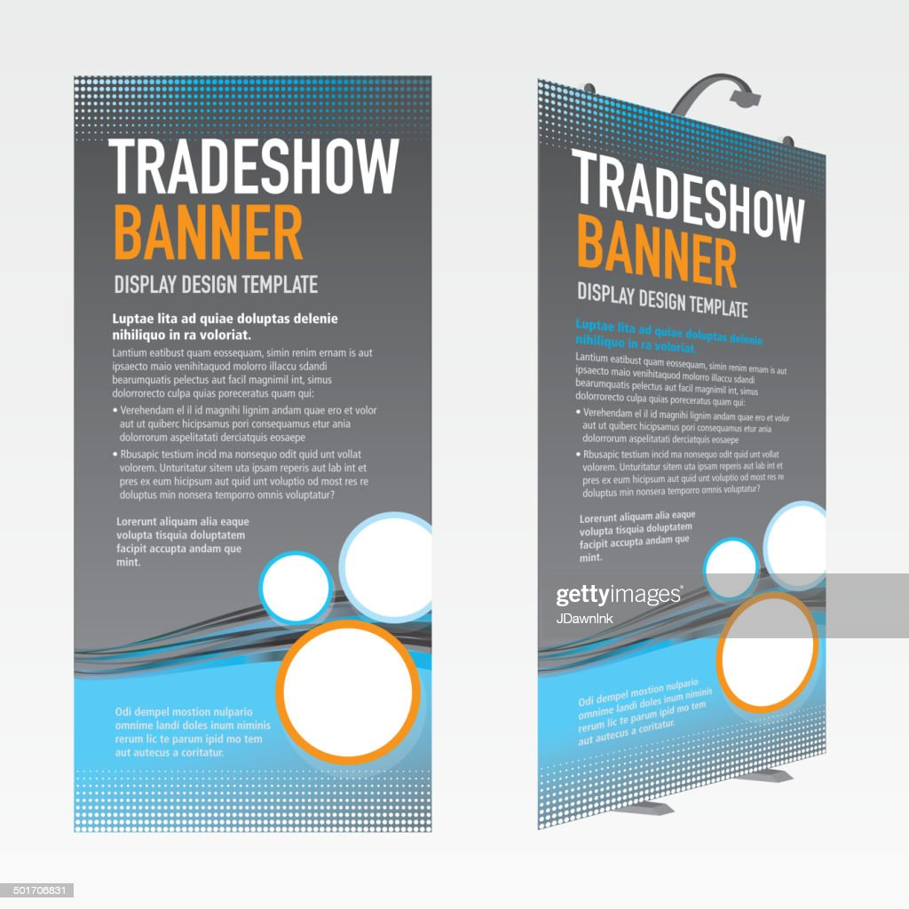 Tradeshow banner set gray and blue template design