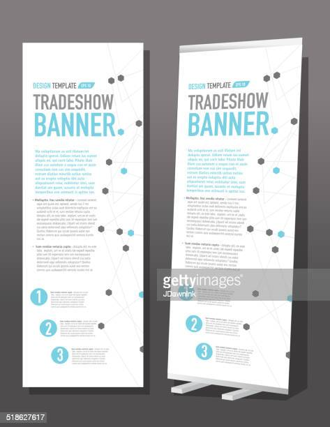 Tradeshow banner template design graph and dots