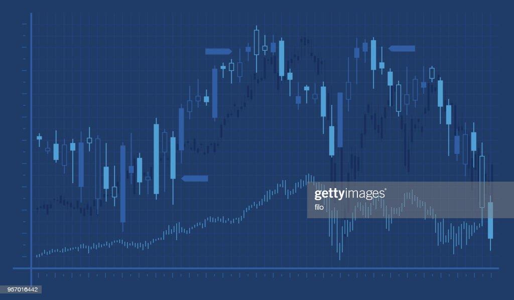 Grafico grafico di trading : Illustrazione stock