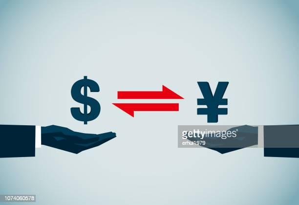 handel - devisenkurs stock-grafiken, -clipart, -cartoons und -symbole