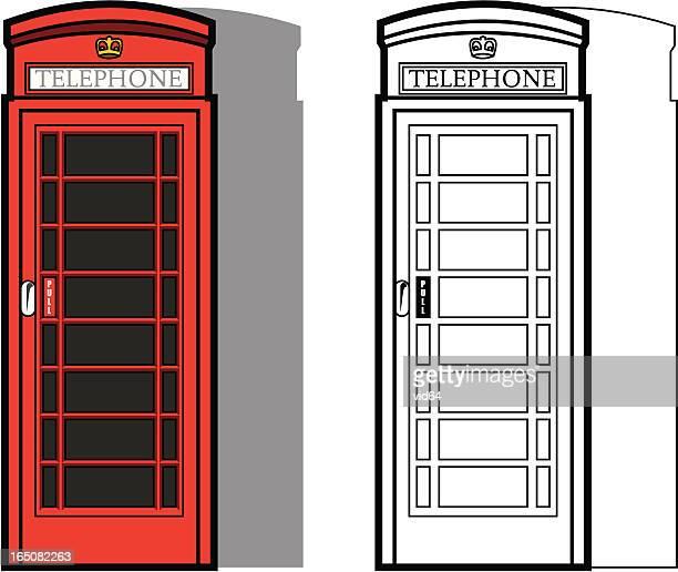 Traditional British Phone Box