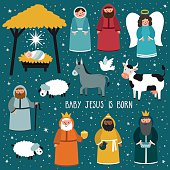 Traditional Christmas. Nativity scene