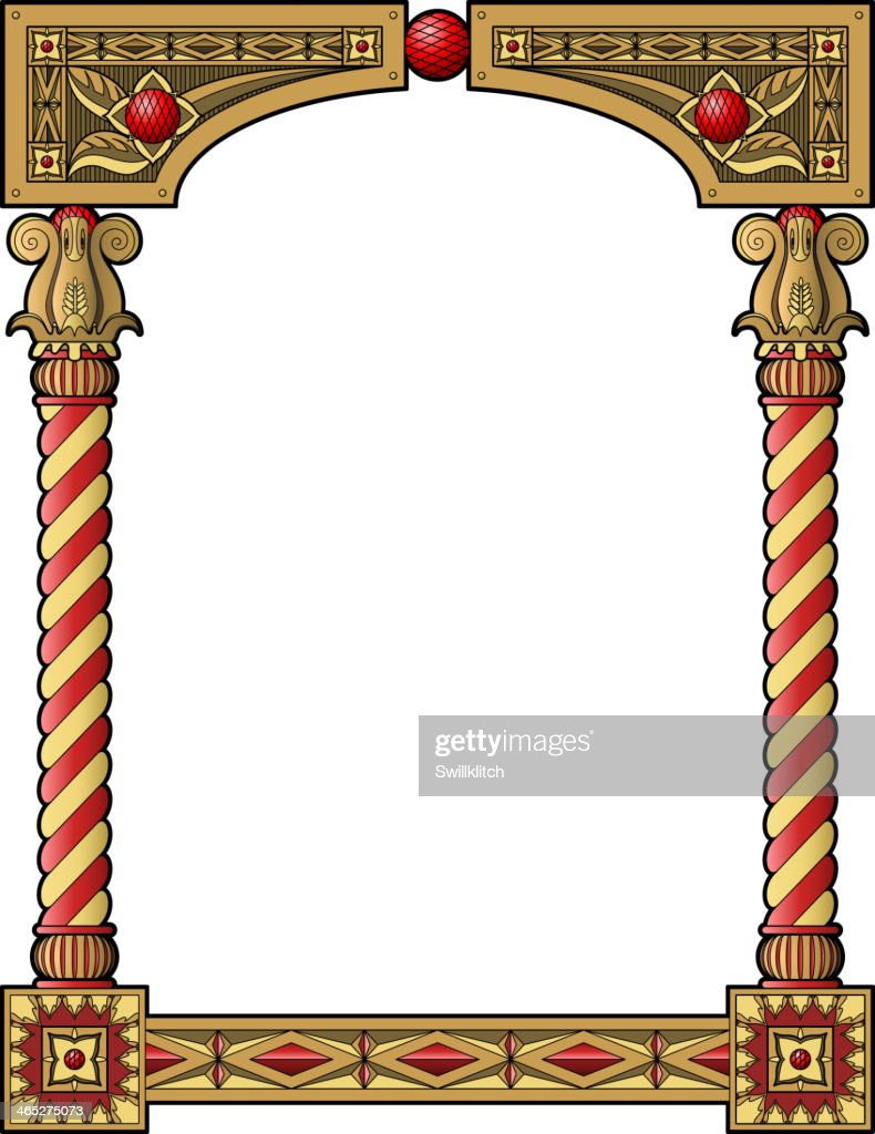 Traditional column frame