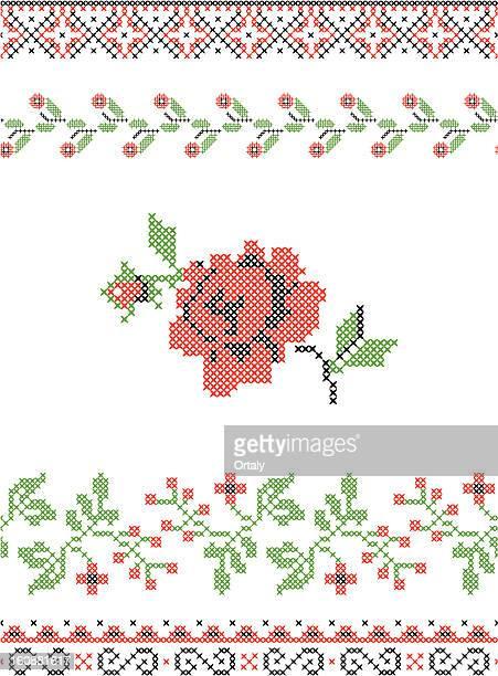 伝統的な刺しゅう - 刺繍点のイラスト素材/クリップアート素材/マンガ素材/アイコン素材