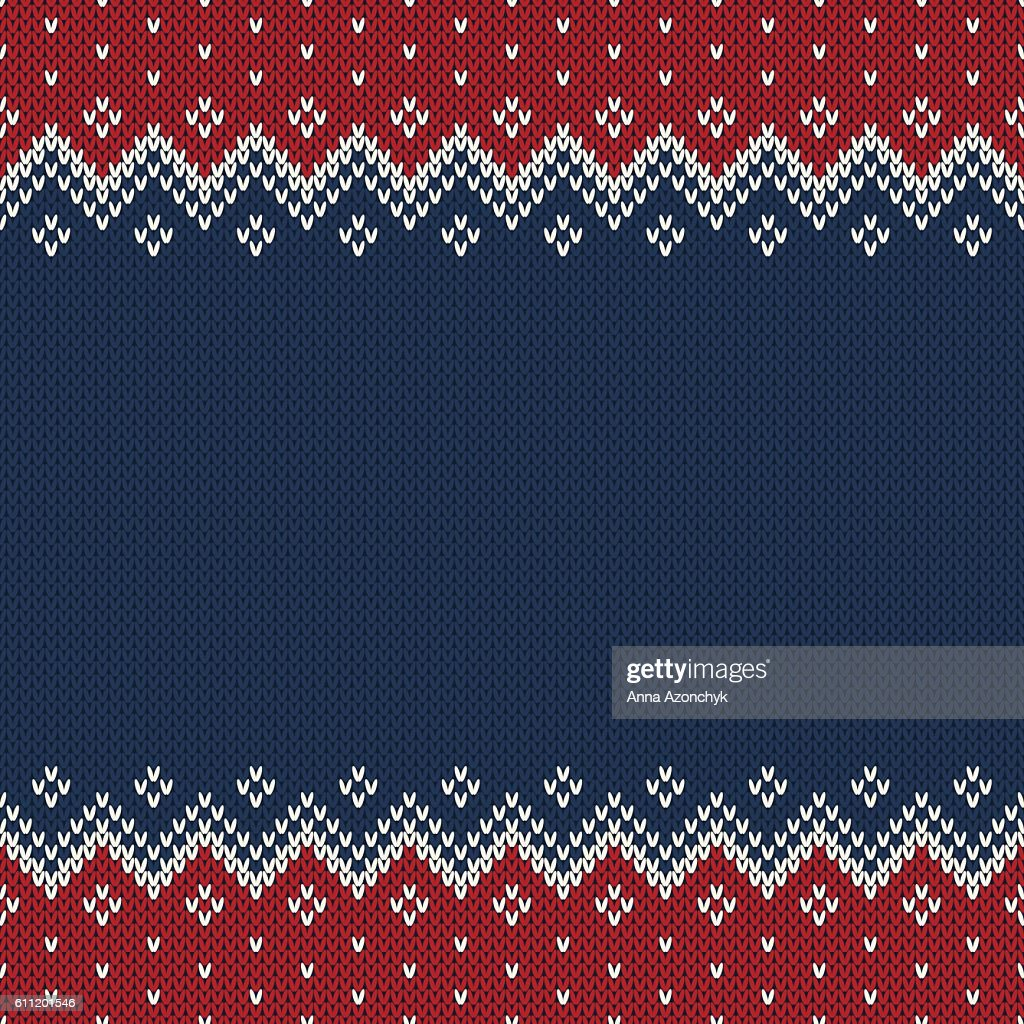 Traditional Fair Isle Style Seamless Knitted Pattern