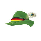 61e39203693190 ... Traditional German hat - isolated vector illustration
