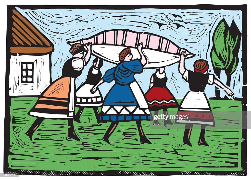 Traditional Hungarian Wedding 1. : stock illustration