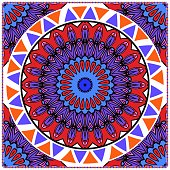 Traditional ornamental floral mandala pattern. For design of carpet, shawl, pillow, cushion. Vector illustration