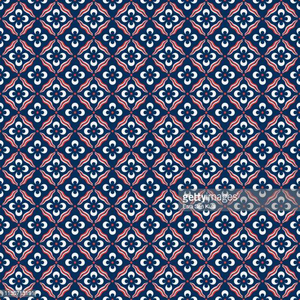 traditional ottoman cintemani seamless pattern - turkey middle east stock illustrations