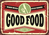 Traditional sign design for restaurant or diner