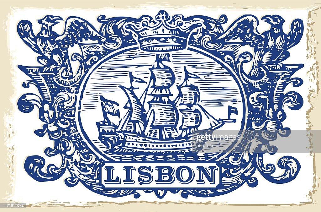 Traditional Tiles Azulejos Lisbon, Portugal