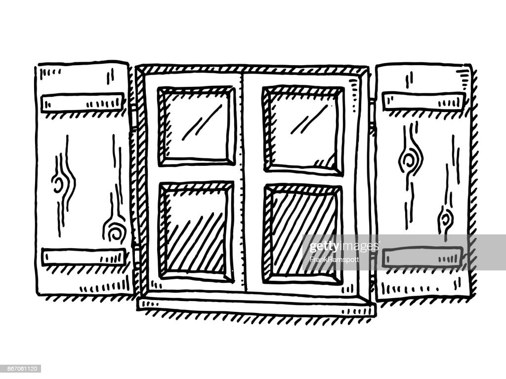 Traditional Window Of A Bavarian House Drawing Vector Art | Getty Images  sc 1 st  Getty Images & Traditional Window Of A Bavarian House Drawing Vector Art | Getty ... pezcame.com