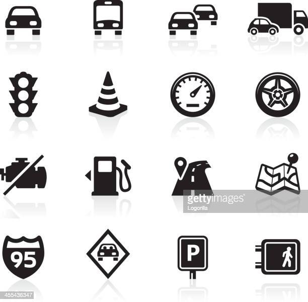 traffic and driving icons - parking sign stock illustrations
