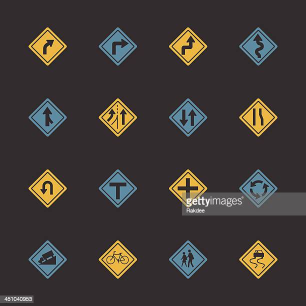 Traffic And Road Sign Icons - Color Series   EPS10