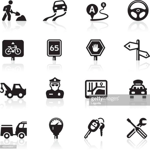Traffic and Road trip icons