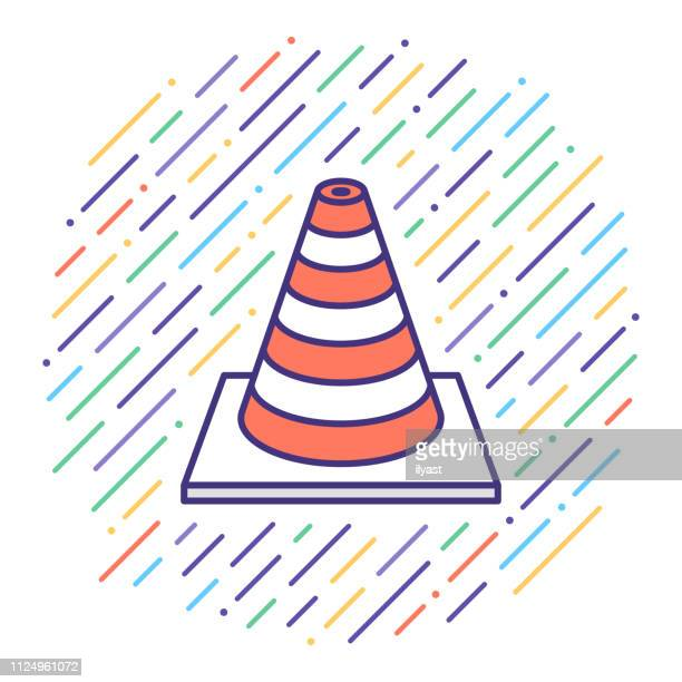 Traffic Collision flache Linie Icon Illustration