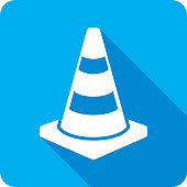 Traffic Cone Icon Silhouette 2