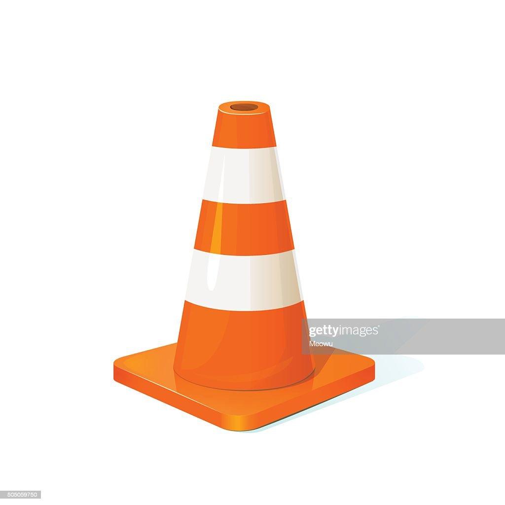 Traffic cone, vector illustration