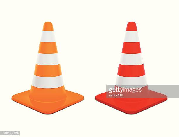 traffic cones - cone shape stock illustrations