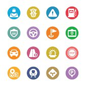 Traffic Icon Set | Multicolor Series