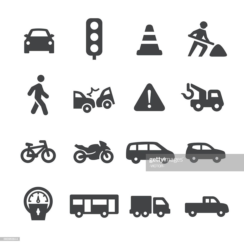 Traffic Icons - Acme Series : Stock-Illustration