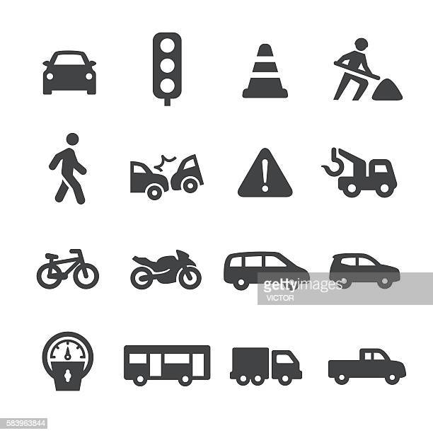 traffic icons - acme series - pedestrian stock illustrations, clip art, cartoons, & icons