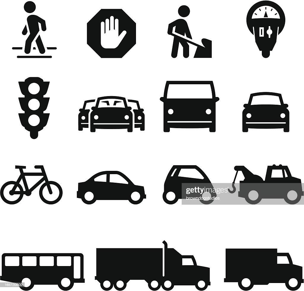 Traffic Icons - Black Series