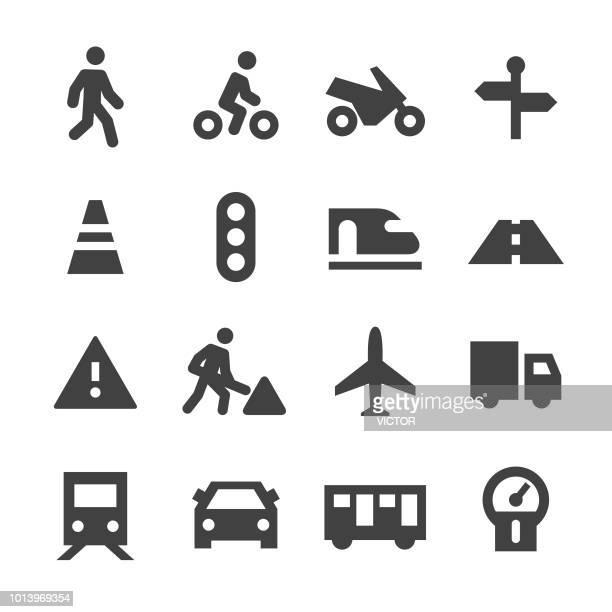 Verkeer Icons - minimale reeks