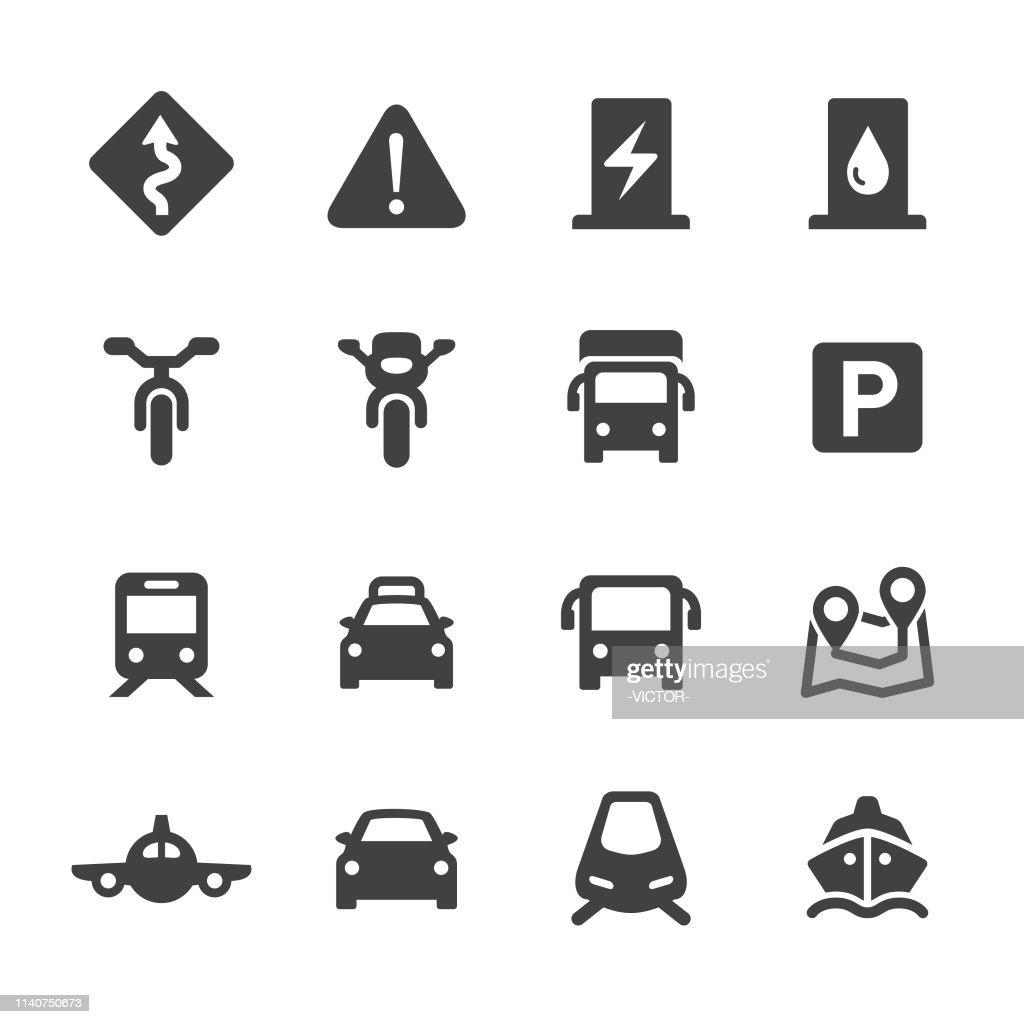 Verkeers pictogrammen set-Acme-serie : Stockillustraties