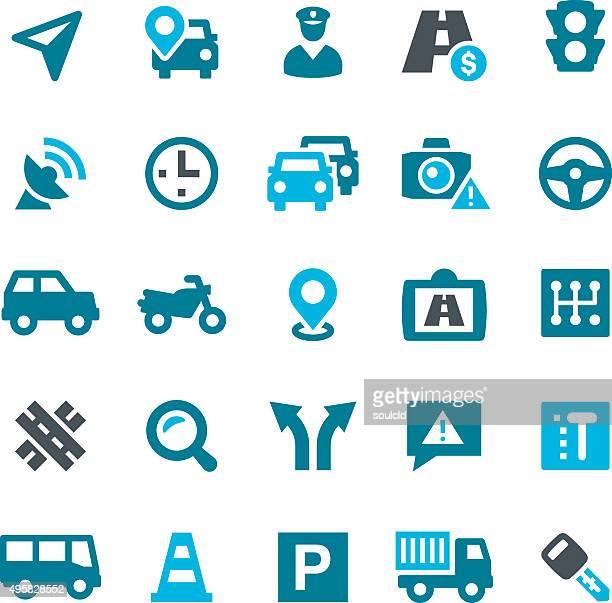 traffic icons - traffic cop stock illustrations