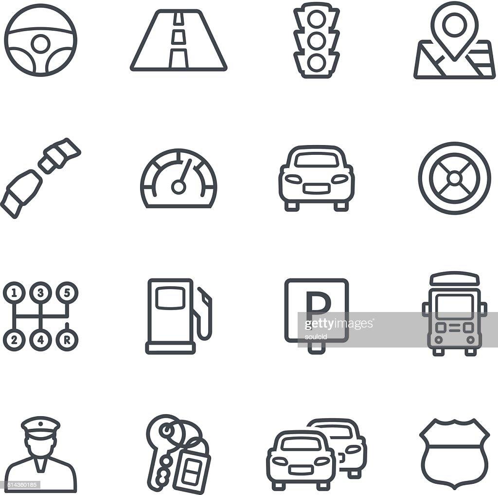 Traffic Icons : stock illustration
