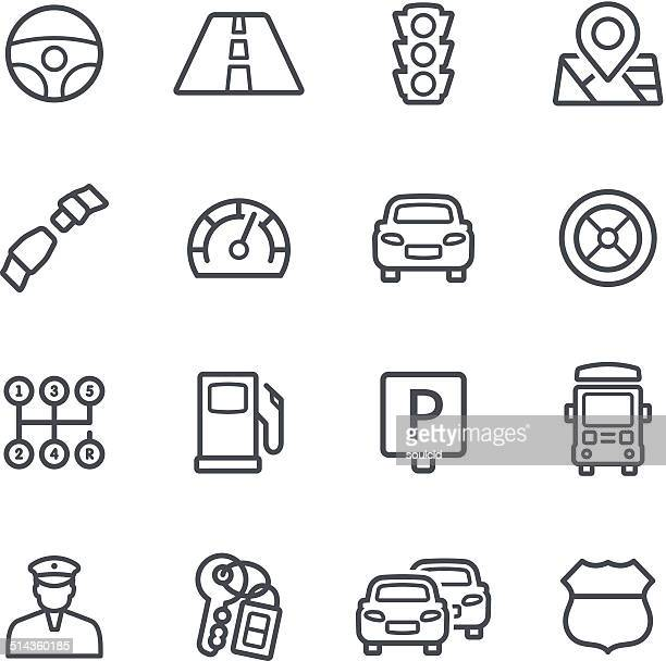 traffic icons - parking sign stock illustrations