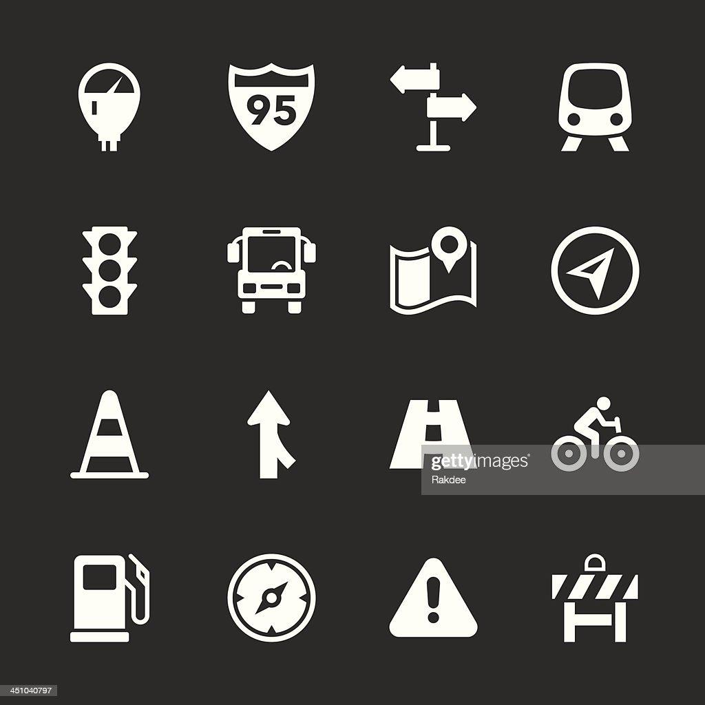 Traffic Icons - White Series | EPS10