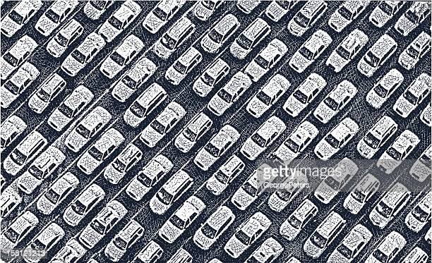 traffic jam - traffic stock illustrations