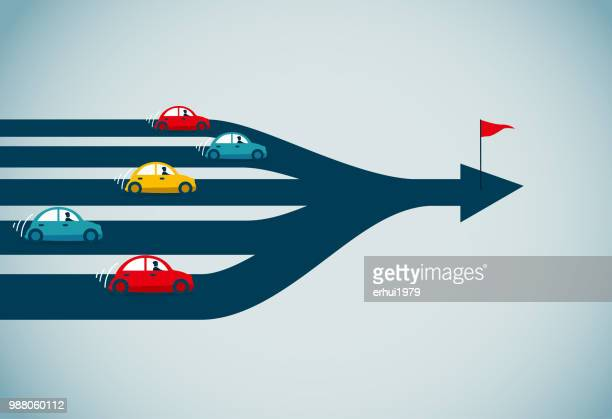 traffic jam - human settlement stock illustrations