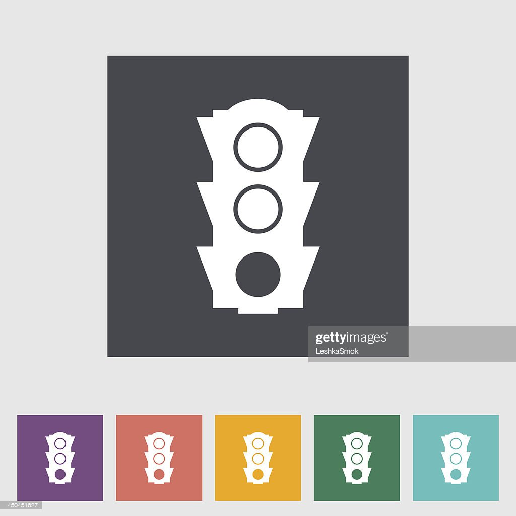 Traffic light flat icon.