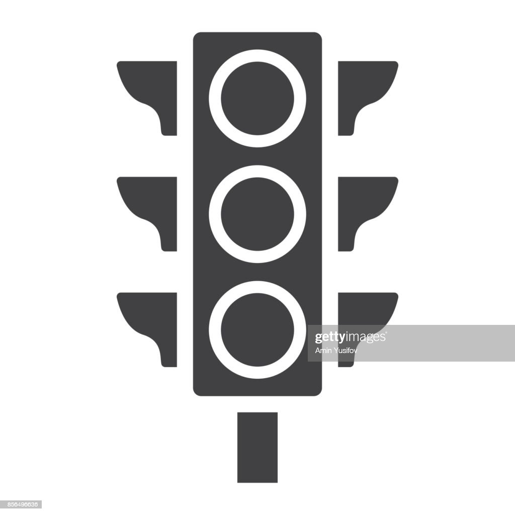 Traffic light glyph icon, stoplight and navigation, regulation sign vector graphics, a solid pattern on a white background, eps 10.
