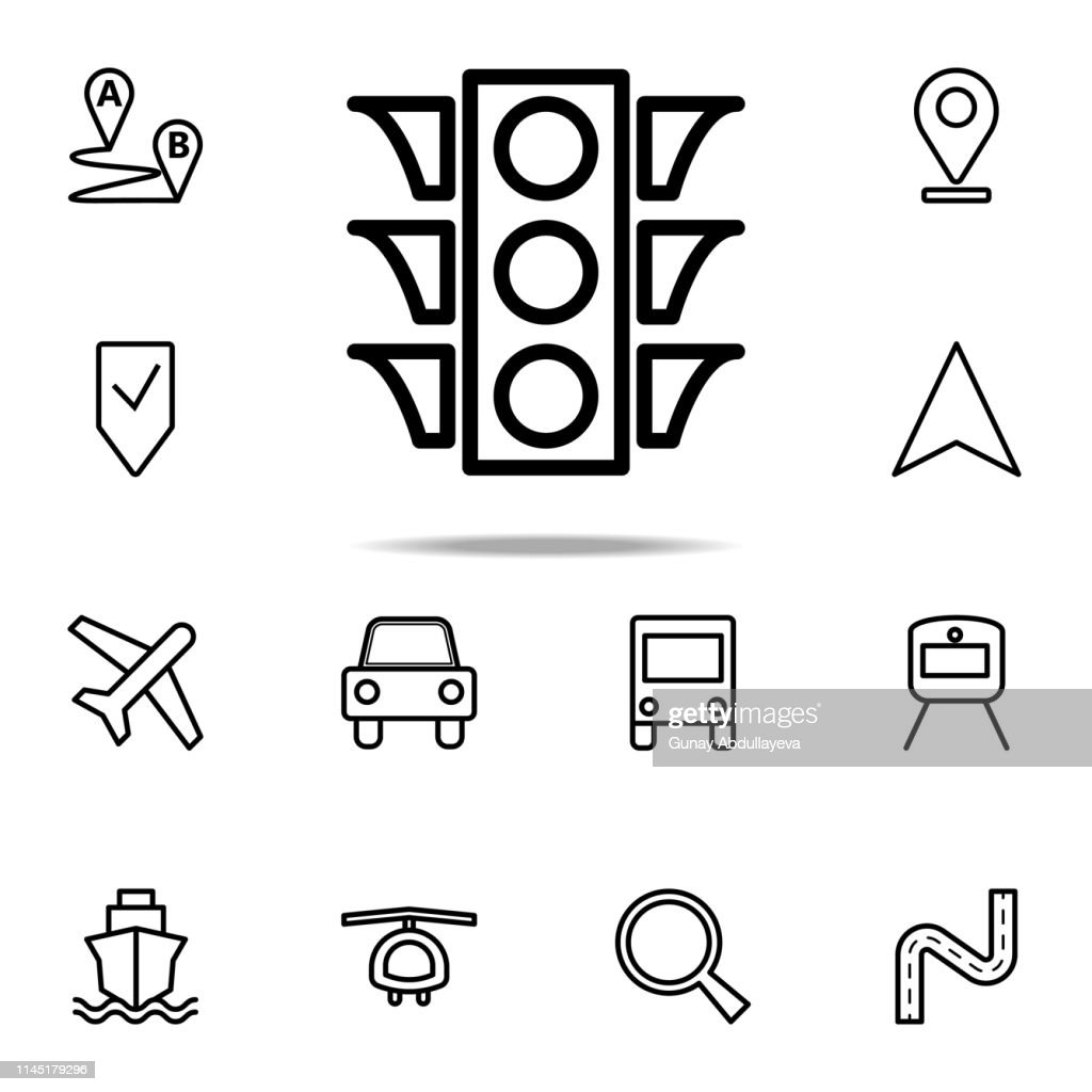 traffic light icon. Navigation icons universal set for web and mobile