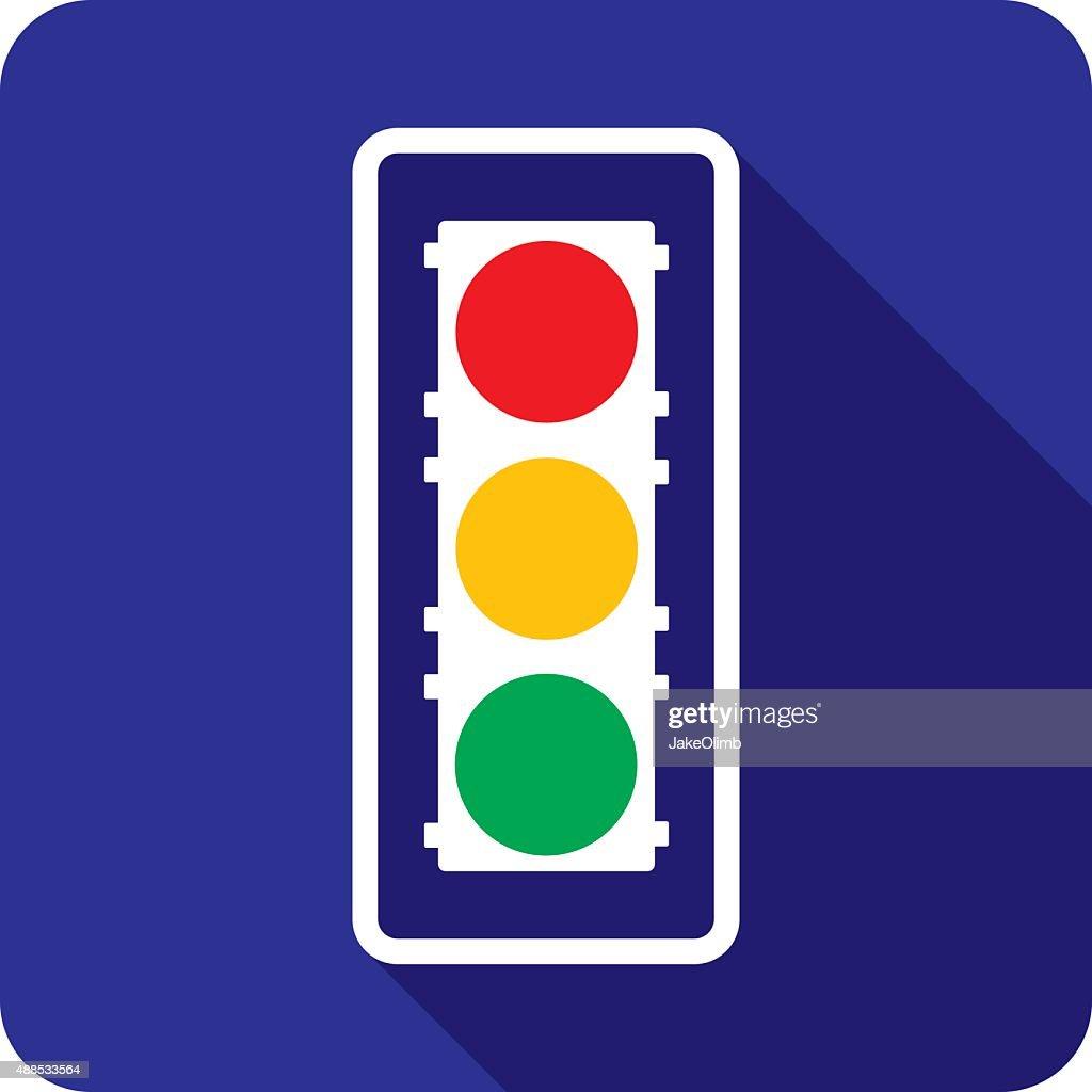 Traffic Light Icon Silhouette