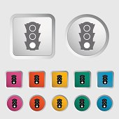 Traffic light icon.