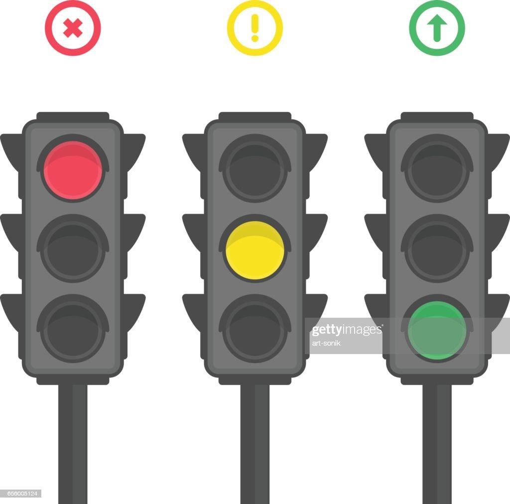 Traffic light icons.